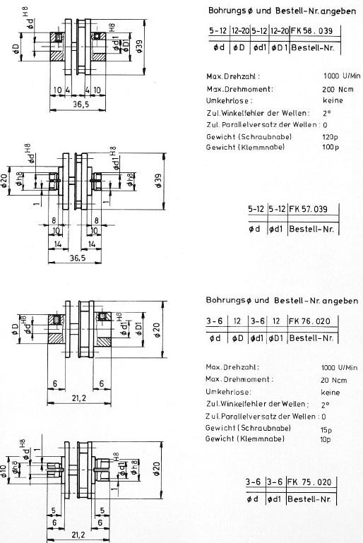 Federscheibenkupplung / Wellenkupplung